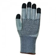 MONARCH-DOTS™: 13-GAUGE GRAY HIGH PERFORMANCE SHELL, 2-SIDE NITRILE DOTS AND FINGERTIPS, ANSI CUT LEVEL 3