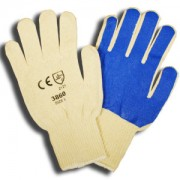 100% COTTON, 10-GAUGE MACHINE KNIT, BLUE NITRILE SCREEN-COATED PALM
