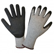 10-GAUGE, GRAY RECYCLED FIBER SHELL, BLACK LATEX PALM COATING