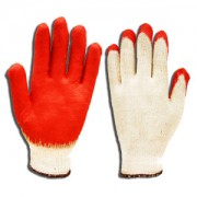 ECONOMY, 10-GAUGE, NATURAL MACHINE KNIT, RED SMOOTH LATEX PALM COATING