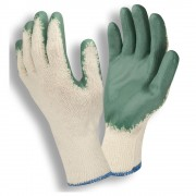 STANDARD, 10-GAUGE, NATURAL MACHINE KNIT, GREEN SMOOTH LATEX PALM COATING