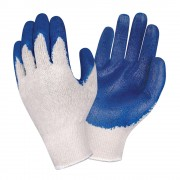 ECONOMY, 10-GAUGE, NATURAL MACHINE KNIT, BLUE SMOOTH LATEX PALM COATING