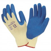COR-GRIP™, 10-GAUGE, YELLOW POLY/COTTON SHELL, BLUE LATEX PALM COATING
