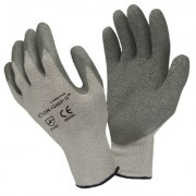 COR-GRIP II™, 10-GAUGE, GRAY POLY/COTTON SHELL, GRAY LATEX PALM COATING