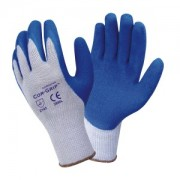 COR-GRIP™, 10-GAUGE, GRAY POLY/COTTON SHELL, BLUE LATEX PALM COATING