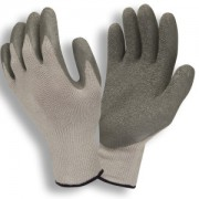 COR-GRIP III™, 10-GAUGE, GRAY POLY/COTTON SHELL, GRAY LATEX PALM COATING