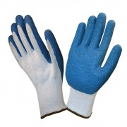 COR-GRIP III™, 10-GAUGE, GRAY POLY/COTTON SHELL, BLUE LATEX PALM COATING