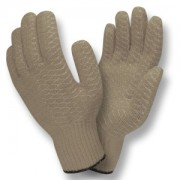 GRAY SYNTHETIC MACHINE KNIT SHELL, SOFT PVC CRISS-CROSS COATING