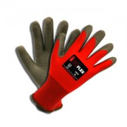 iON FLEX™, 13-GAUGE, RED NYLON SHELL, DARK GRAY LATEX PALM COATING