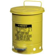 6 GALLON YELLOW OILY WASTE CAN