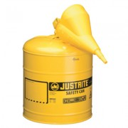 5 GALLON YELLOW TYPE I SAFETY CAN W/POLY FUNNEL
