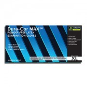 DURA-COR MAX™ 15-MIL, HI-VIS BLUE LATEX, EXAM GRADE, POWDER FREE, 12-INCH, TEXTURED, 10 BOXES OF 50