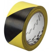 "3M HAZARD WARNING TAPE 766 BLK/YELLOW 2""X36YD"