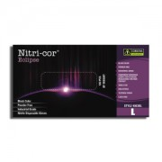 NITRI-COR ECLIPSE™ BLACK NITRILE, INDUSTRIAL GRADE, POWDER FREE, TEXTURED, 10 BOXES OF 100
