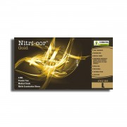 NITRI-COR GOLD™ NITRILE, EXAM GRADE, POWDER FREE, TEXTURED, 4-MIL, 10 BOXES OF 100