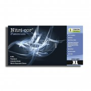 NITRI-COR PLATINUM™ NITRILE, INDUSTRIAL GRADE, POWDERED, TEXTURED, 8-MIL, 20 BOXES OF 50
