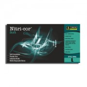 NITRI-COR SOFT™ NITRILE, INDUSTRIAL GRADE, POWDER-FREE, 3-MIL, 10 BOXES OF 100