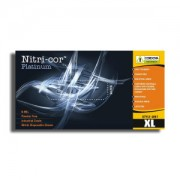 NITRI-COR PLATINUM™ NITRILE, INDUSTRIAL GRADE, POWDER FREE, TEXTURED, 8-MIL, 20 BOXES OF 50
