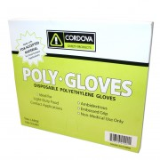 LDPE (LOW DENSITY), POLYETHYLENE GLOVES, EMBOSSED, 1.25-MIL, 100 ENVELOPES OF 100