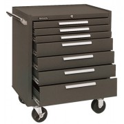 00614 ROLLER CABINET 7 DRAWER W/BALL BEARING BRN