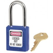 6 PIN BLUE SAFETY LOCK-OUT PADLOCK KEYED DIFFER