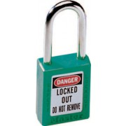 6 PIN GREEN SAFETY LOCK-OUT PADLOCK KEYED DIFFER