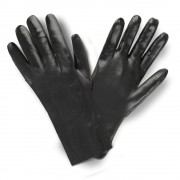 BLACK PVC, ROUGH FINISH, INTERLOCK LINED, 12-INCH