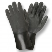 BLACK DOUBLE DIPPED, SANDPAPER GRIP, JERSEY LINED, 12-INCH