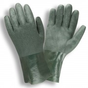 GREEN DOUBLE DIPPED, ETCHED GRIP, JERSEY LINED, 10-INCH