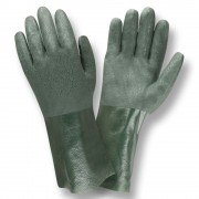 GREEN DOUBLE DIPPED, ETCHED GRIP, JERSEY LINED, 12-INCH