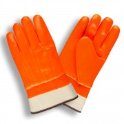 HI-VIS ORANGE, SINGLE DIPPED, FOAM INSULATED PVC, SMOOTH FINISH, SAFETY CUFF