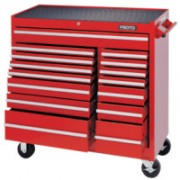 RED 15 DRAWER WORKSTATION 41X42""