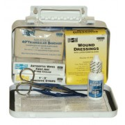 10 PERSON STEEL WEATHERPROOF FIRST AID KIT-W/E