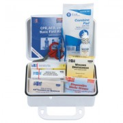 10 PERSON PLASTIC FIRST-AID KIT W/EYEWASH