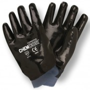 CHEM-COR™ BLACK SUPPORTED NEOPRENE, SMOOTH FINISH, JERSEY LINED, KNIT WRIST