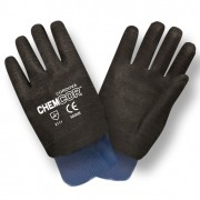 CHEM-COR™ BLACK SUPPORTED NEOPRENE, ROUGH FINISH, JERSEY LINED, KNIT WRIST