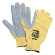 MENS 100% KEVLAR YELLOW/BROWN WRIST GLOVE