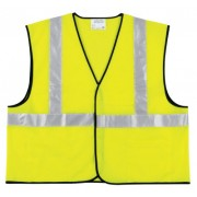 CLASS II SOLID POLY FLUORESCENT LIME SAFETY VEST