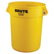 32GAL W/O LID BRUTE CONTAINER TRASH CAN YELLOW
