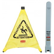 "30"" CAUTION WET FLOOR TRIANGULAR CONE"