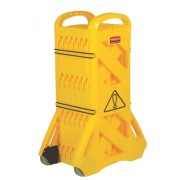 YELLOW MOBILE SAFETY BARRIER