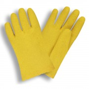 TEXTURED, YELLOW VINYL COATED, MACHINE KNIT SHELL, 10-INCH