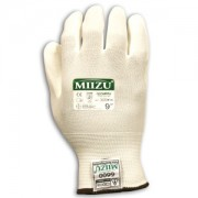 MIIZU® 13-GAUGE, WHITE NYLON SHELL, WHITE WATER-BASED POLYURETHANE (BAYER-IMPRANIL®) PALM COATING
