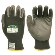 MIIZU®: 13-GAUGE, DARK GRAY NYLON SHELL, GRAY WATER-BASED POLYURETHANE (BAYER-IMPRANIL®) PALM COATING