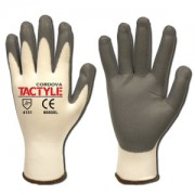TACTYLE™: 13-GAUGE, WHITE NYLON SHELL, GRAY FOAM NITRILE PALM COATING