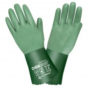 CHEM-COR™ GREEN DOUBLE DIPPED NEOPRENE, SANDPAPER GRIP, INTERLOCK LINED, 12-INCH