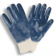 STANDARD DIPPED NITRILE, FULLY COATED, INTERLOCK LINED, KNIT WRIST