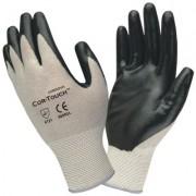 COR-TOUCH™ 13-GAUGE, GRAY NYLON SHELL, BLACK FLAT NITRILE PALM COATING