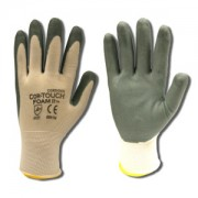 COR-TOUCH FOAM II™ 13-GAUGE, WHITE NYLON SHELL, GRAY FOAM NITRILE PALM COATING