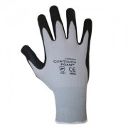 COR-TOUCH FOAM™ 13-GAUGE, GRAY NYLON SHELL, BLACK MICRO-FOAM NITRILE PALM COATING